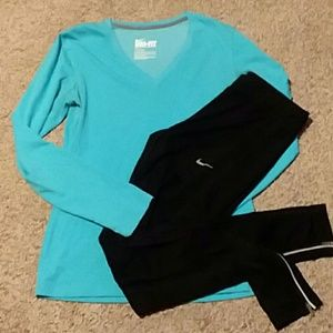 Nike joggers and long sleeve T-shirt
